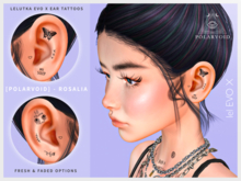 [POLARVOID] Rosalia - EvoX Ear Tattoos