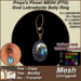 Freya's Finest MESH Labradorite Stone (Full Texture Change) Belly Ring
