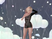 [Petite Pastels] Soaked Dress Black