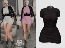 RUVER-Dress::Kim- Black(Legacy,Maitreya,Kupra,Kups)