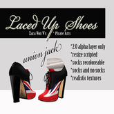 =PIA= Box laced shoes union jack
