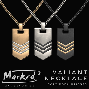 MARKED - Valiant Chevron Dogtag Necklace (add me)
