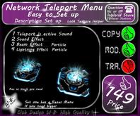 * New Network Teleport * Menu *