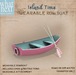 {what next} 'Island Time' Wearable Row Boat (boxed)
