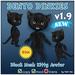 * Tiny Inc * Black Dinkie Cat v1.9 Bento