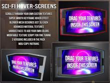 Hovering Scifi Screens