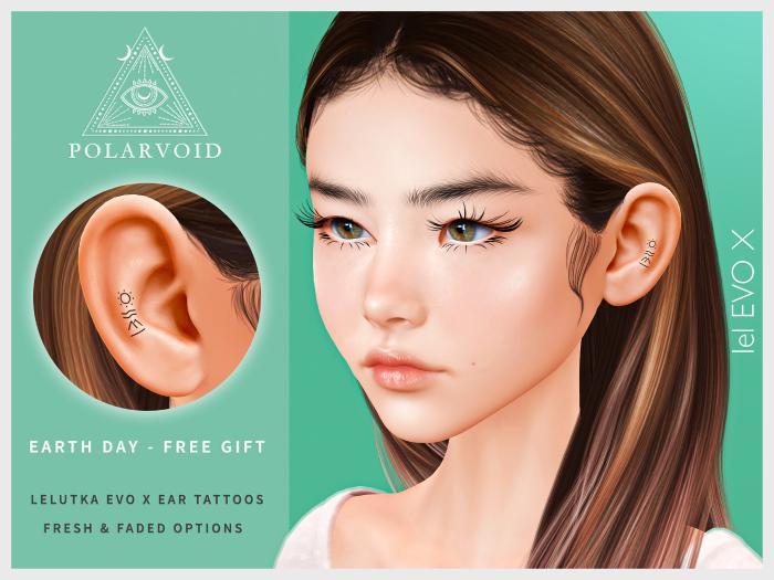 [POLARVOID] Earth Day - EvoX Ear Tattoo (Gift)