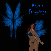 Aqua's Fairy Wings blue