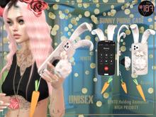 #187# Bunny Phone Case White *Holding*