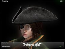 Purgatory. - Tricorn Hat Black Leather