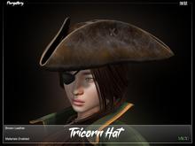 Purgatory. - Tricorn Hat Brown Leather