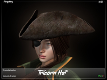 Purgatory. - Tricorn Hat Crocodile Leather