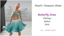 PTC-Butterfly Dress -Glitter Blue (box)