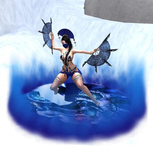 Mortal Kombat WALKER DISK Blue Fire