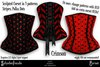 Schadenfreude Crimson Stripe & Polka Dots Corsets