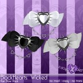 {Violet Voltaire} BlackHearts Wicked Hairbows