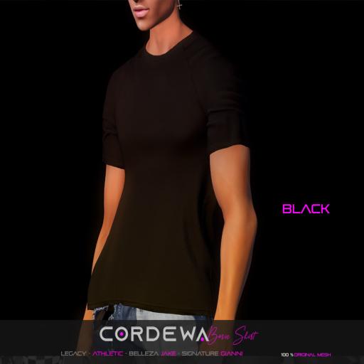 *CORDEWA* BASIC SHIRT BLACK