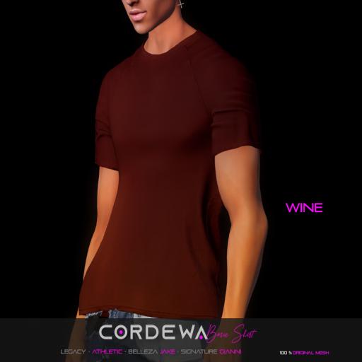 *CORDEWA* BASIC SHIRT WINE