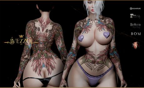 Pagona Tattoo - Pink, single color, Maitreya, Legacy, INTHIUM KUPRA, Belleza, Signature, Omega, BOM - Vezzo Ink