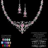 Eolande's Cinderella Necklace & Earrings - aurora borealis