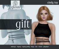 *Gloss* Cindy Top Black