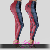 *CORDEWA* FEMALE SKINNY LEATHER PANTS RED