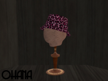 Ohana Bucket Hat Leopard Pink (WEAR TO UNPACK)