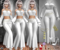 Fatal Fashion - Outfit 235: Top, Pants, Shoes, Necklace, Earring