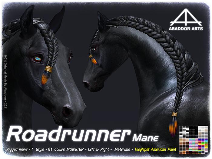 ABADDON ARTS - Roadrunner Mane [Teeglepet American Paint]