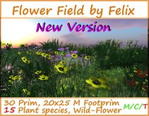 Flower Ground-Cover 2 By Felix 30 Prim 15 Species (for flower cave grotto landscaping tree forest waterfall plant )