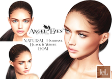 ♚AngelEyes♚ NATURAL Hairbase Lelutka Evolution Black & White(tinable) BOM
