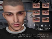 DIALOGUE Jonathan eye makeup for Lelutka Evolution 2.5 male