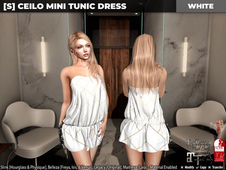 [S] Ceilo Mini Tunic Dress White