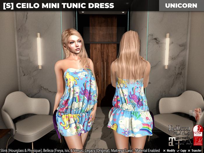 [S] Ceilo Mini Tunic Dress Unicorn
