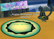 Avatar Animation State detector