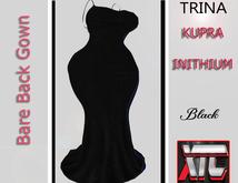 XTC Trina Bare Back Gown KUPRA black box