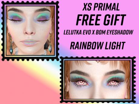 XS Primal LeLUTKA EvoX Rainbow Light Eyeshadow Gift