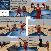 complete Boxing ring ,workout pad,& punch bag-Box