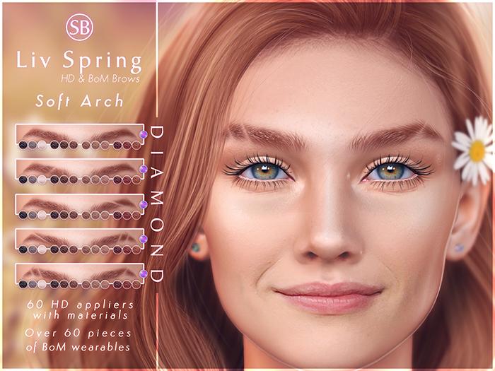 Eyebrows, LeLutka FLEUR: LivSpring.SoftArch.DIAMOND