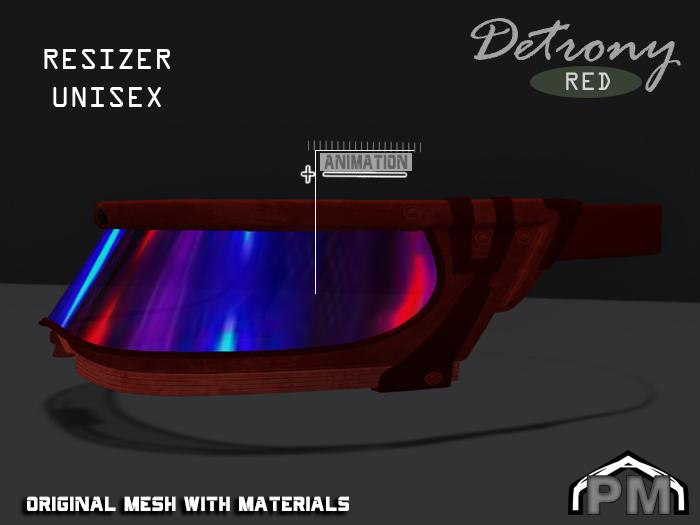 :PM: Cyberpunk Glasses Detrony - Red