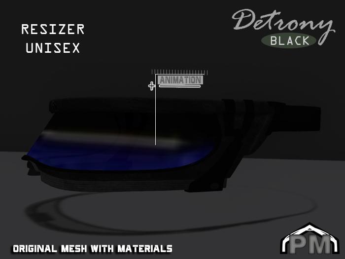 :PM: Cyberpunk Glasses Detrony - Black