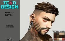 DEMO ~ Hair Men ~ Bryan (Hud 12 textures) ~ Mesh