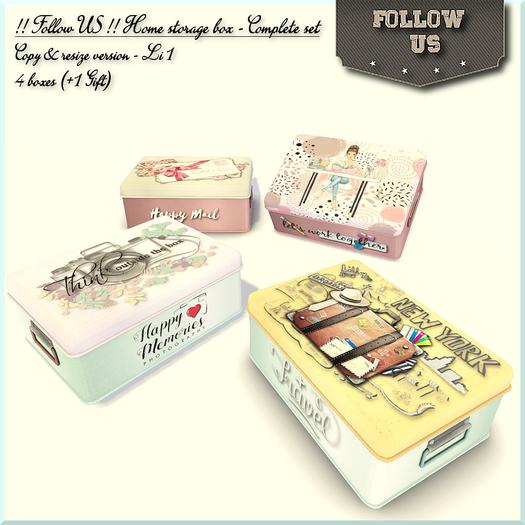 !! Follow US !! Home storage box - Complete Set COPY resize BOX