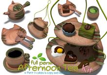 [ FULL PERM ] Wooden Afternoon Tea KIT