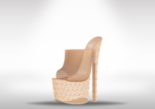 Veilance: Diamond Platform Heels - Nude