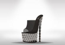 Veilance: Diamond Platform Heels - Noir