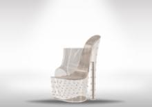 Veilance: Diamond Platform Heels - Clear