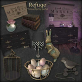 Refuge - Vintage Spring Crystal Lamp