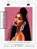 #PGR Justina Earrings Fatpack