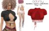adorsy - Angie Top Deep Red - Maitreya/Legacy/Lara Petite